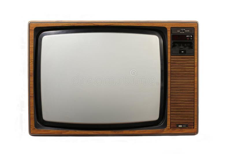 Retro Televisietoestel stock foto's