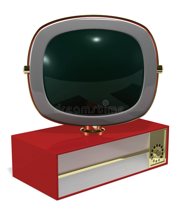 Retro Television stock illustration