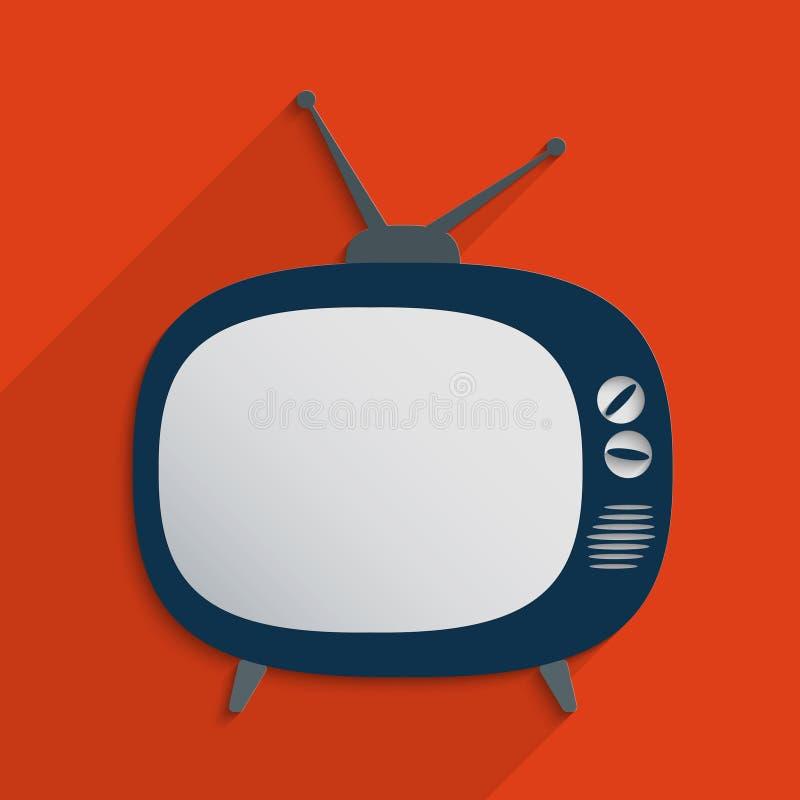 retro television royaltyfri illustrationer