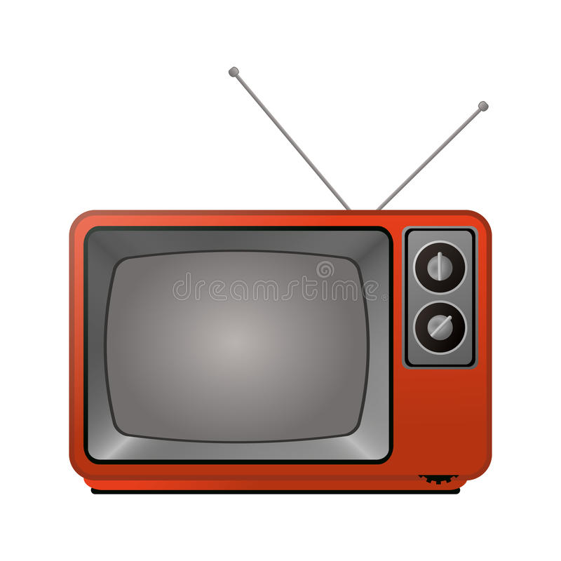 Retro television icon. Over white background. colorful design. vector illustration vector illustration