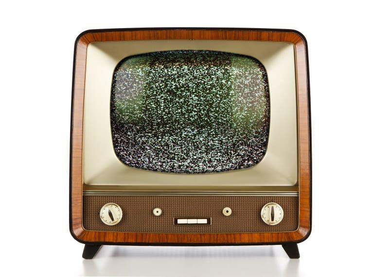Retro television with no signal