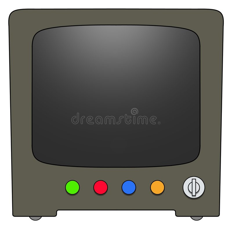 Retro Television Off royalty free illustration