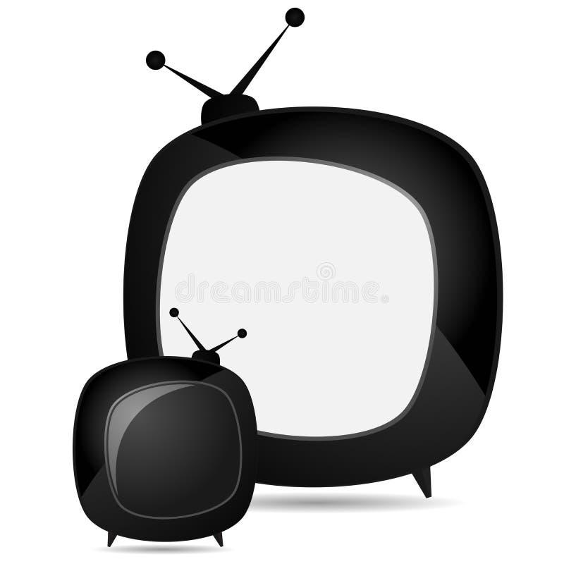 Retro televisione fotografie stock libere da diritti