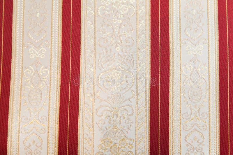 Retro tessuto di tessuto con l'ornamento immagine stock