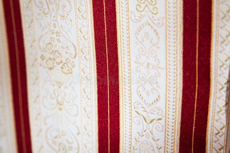 Retro tessuto di tessuto con l'ornamento fotografia stock libera da diritti