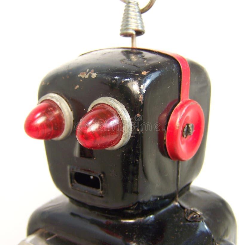 Retro testa del robot fotografie stock libere da diritti