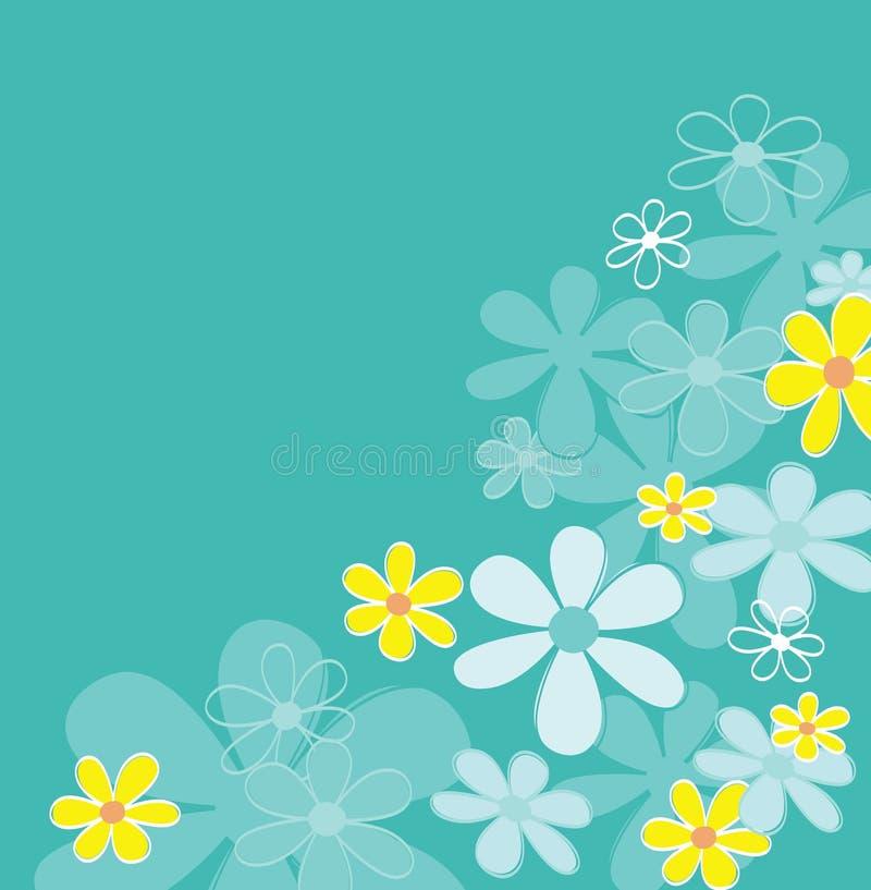 retro textur för blå blomma royaltyfri illustrationer