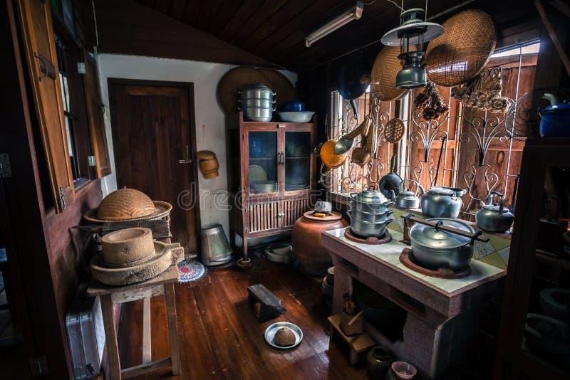 Retro Thai style house and kitchen in Uthai-Thani Thailand. Retro Thai style house and kitchen in Uthai-Thani stock photography