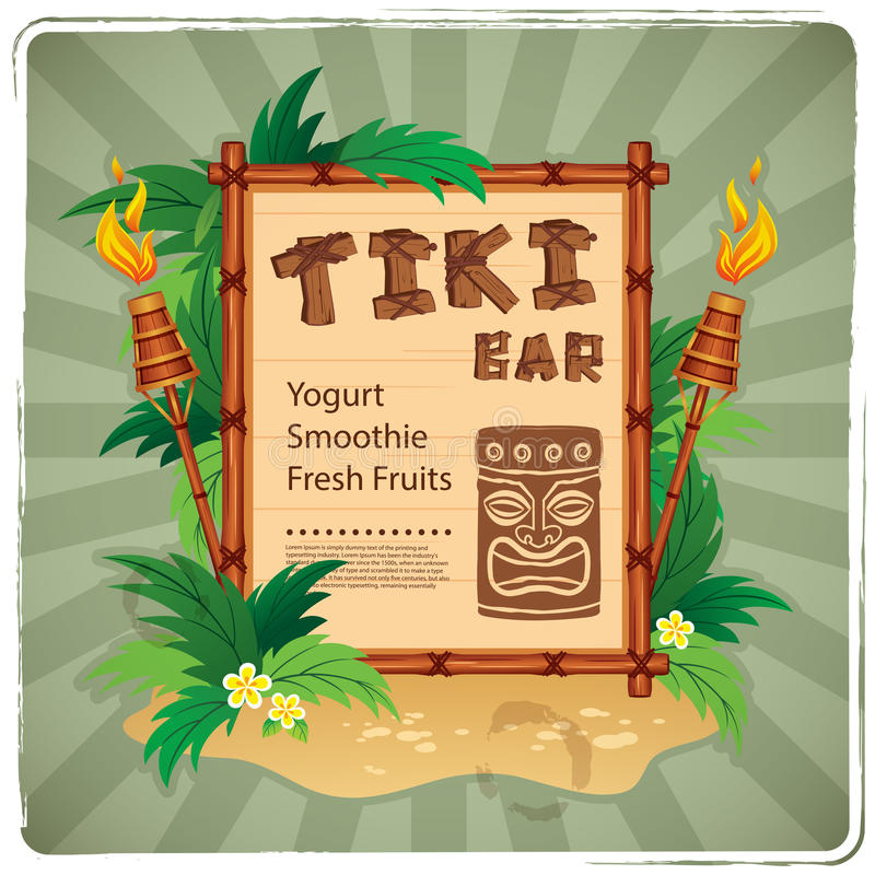 Free Retro Tiki Bar Sign Stock Photography - 50365822