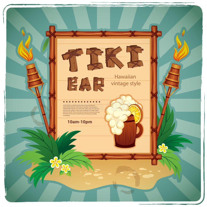 Free Retro Tiki Bar Sign Stock Image - 50498081