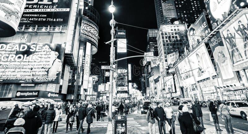 Retro Times Square New York royaltyfria foton