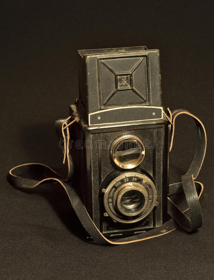 Download Retro TLR (Twin-lens Reflex) Photo Camera Stock Photo - Image of rough, photograph: 12752460