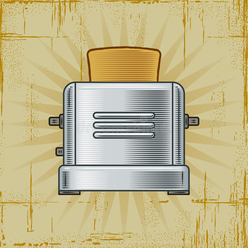 Retro Toaster royalty free illustration