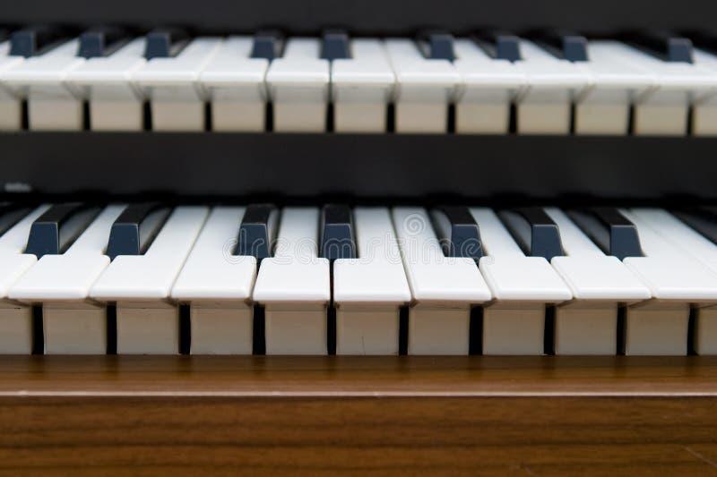 Retro toetsenbord van het Orgaan stock fotografie