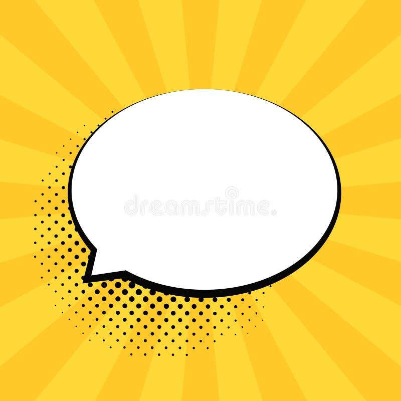 Retro tomma komikerbubblor Vektorillustration, tappningdesign, stil för popkonst Bubblameddelande Vektor för popkonst vektor illustrationer