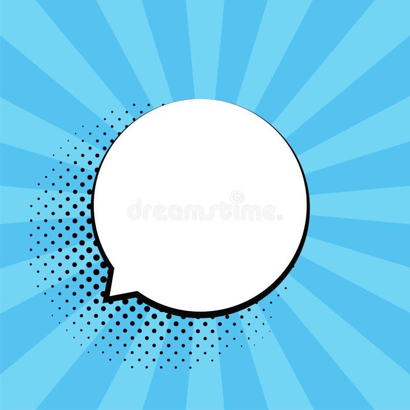 Retro tomma komikerbubblor Vektorillustration, tappningdesign, stil för popkonst Bubblameddelande Vektor för popkonst stock illustrationer