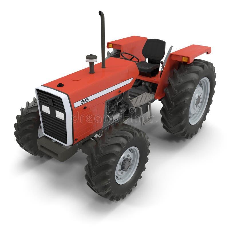 Retro Tractor on white. 3D illustration. Retro Tractor on white background. 3D illustration vector illustration