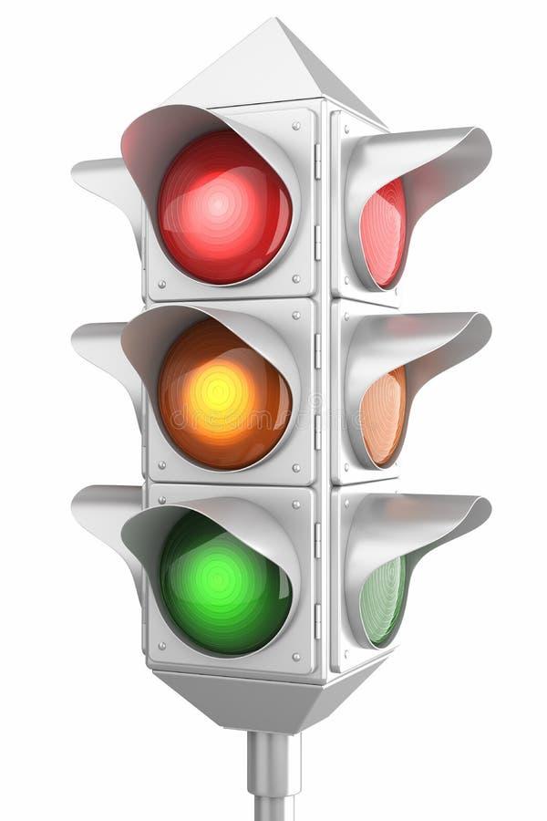 Retro traffic lights vector illustration
