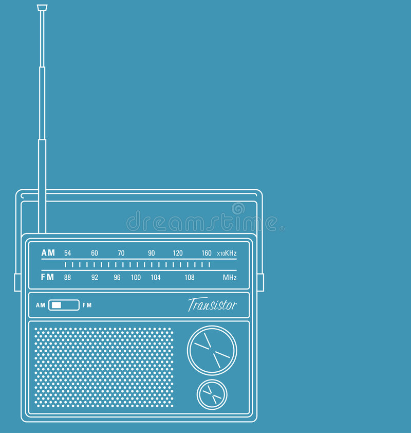 retro transistor för radio royaltyfri illustrationer