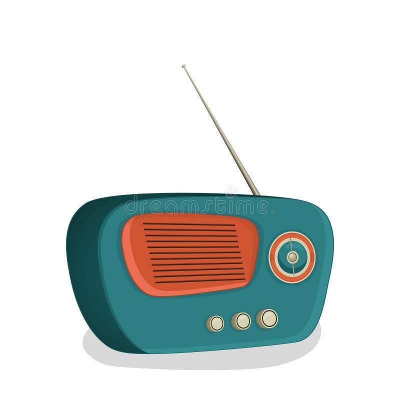 Retro Transistor Radio Design. Stock Illustration - Illustration of ...