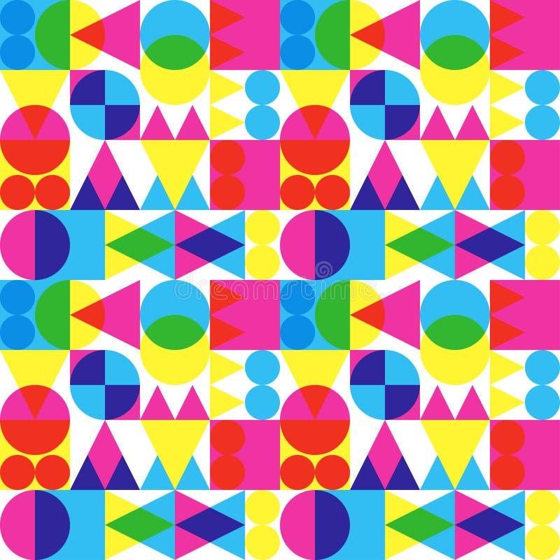Retro Transparent Shapes Pattern Stock Image