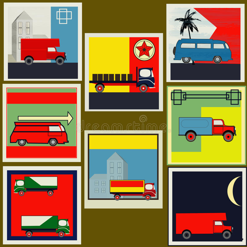 Download Retro Transport labels stock vector. Illustration of poster - 24240638
