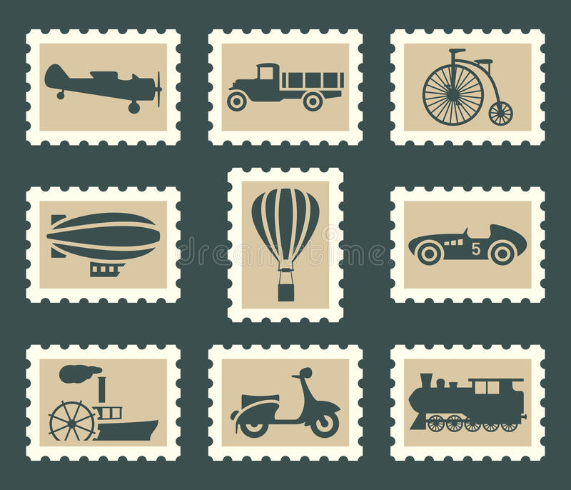 Download Retro transportation set stock vector. Image of pictogram - 34163169