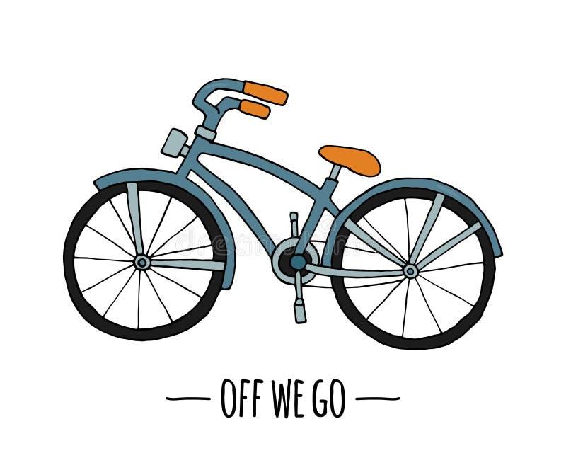 Retro transportsymbol för vektor Vektorillustration av cykeln som isoleras p? vit bakgrund royaltyfri illustrationer