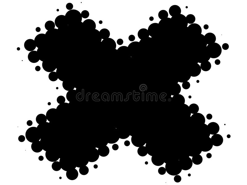 Retro traversa in bianco e nero illustrazione vettoriale