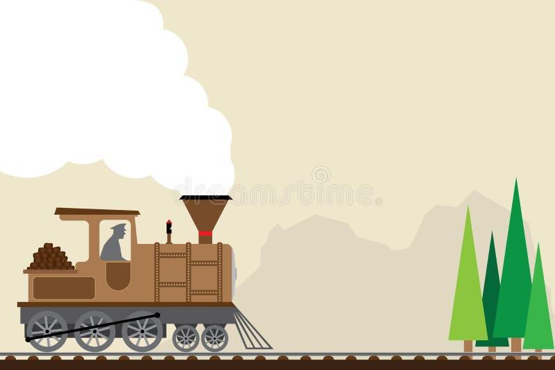 Retro trein vector illustratie