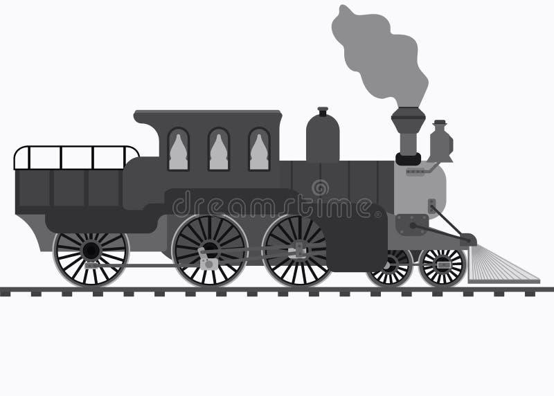 Retro trein royalty-vrije illustratie