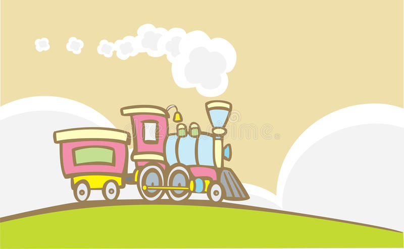 Retro treno illustrazione di stock