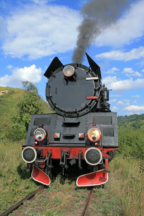 retro treno del vapore fotografia stock libera da diritti