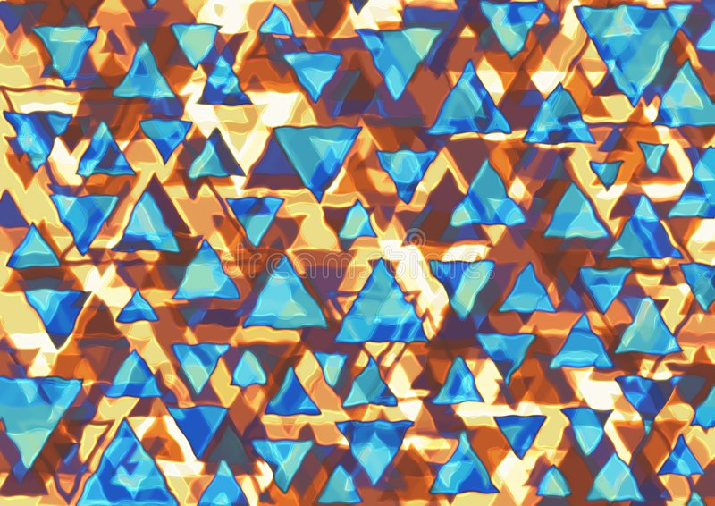 retro trianglar royaltyfri bild