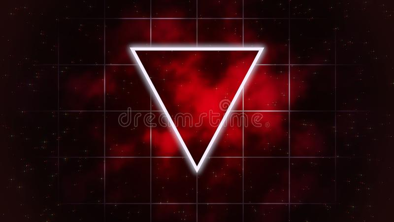 Retro triangle in cosmos, abstract background stock illustration