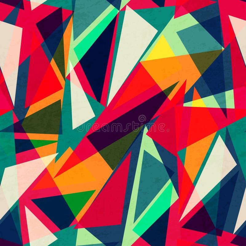 Retro triangle seamless texture vector illustration