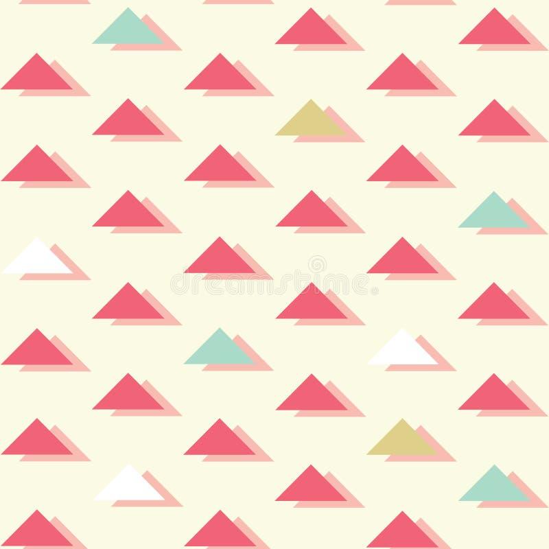 Retro triangoli astratti di vettore sul fondo senza cuciture luminoso del modello royalty illustrazione gratis