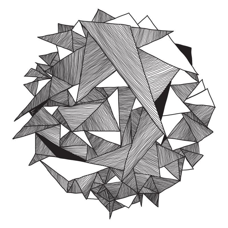 Retro triangolo del fondo dei pantaloni a vita bassa geometrici astratti del modello illustrazione vettoriale