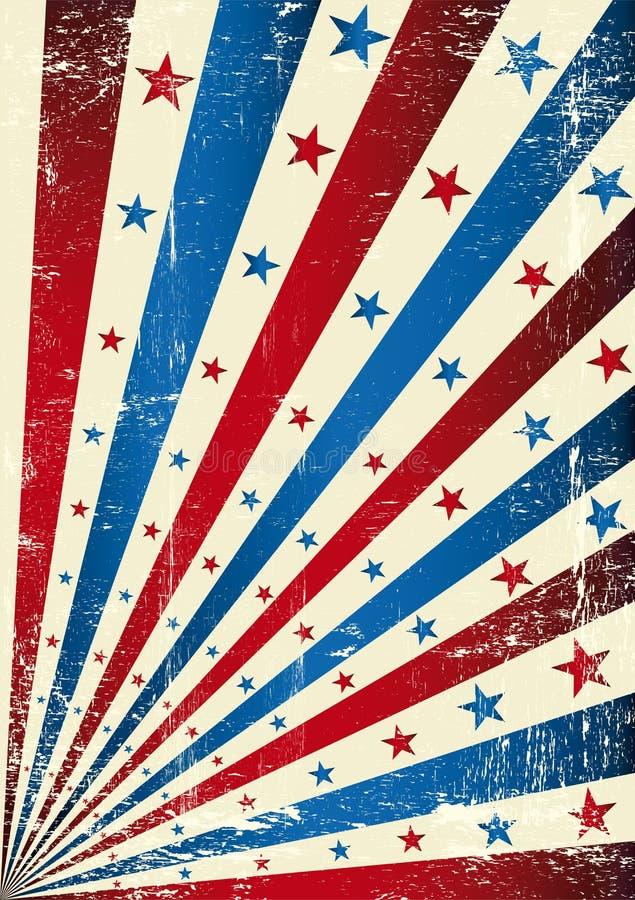 retro tricolor för flaggagrunge stock illustrationer