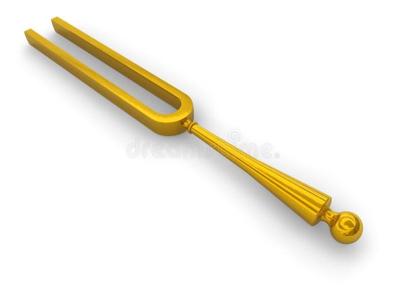 retro trimma för gaffel royaltyfri illustrationer