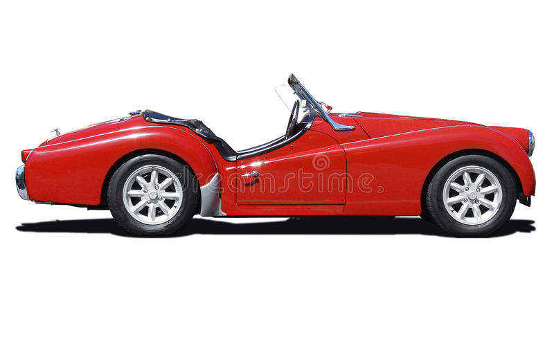 Retro Triumph sports car royalty free stock image