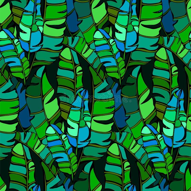 Retro tropisch naadloos patroon royalty-vrije illustratie