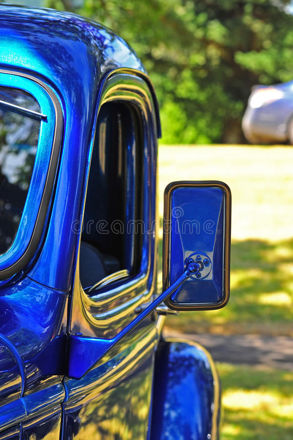Retro truck drivers side mirror stock photography