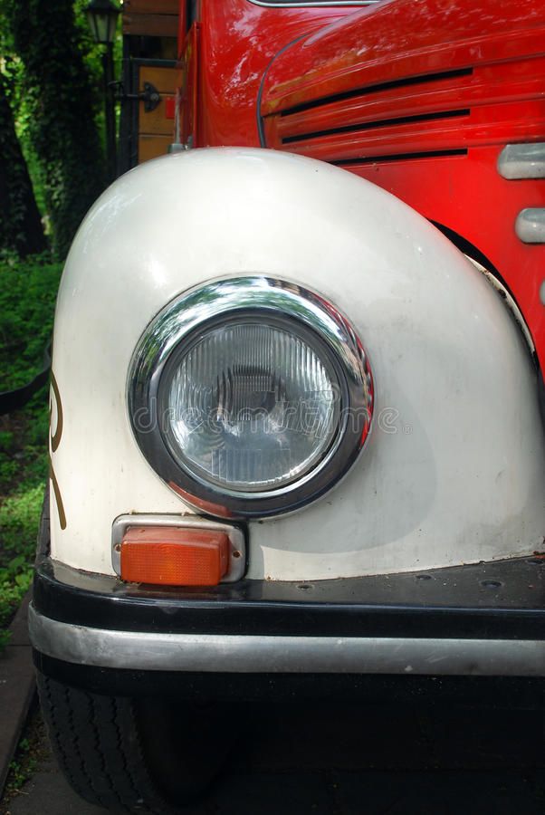 Retro truck vintage headlight royalty free stock image
