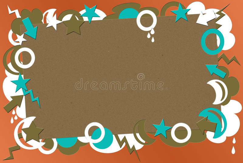 retro turkos för bakgrundskorall royaltyfria bilder