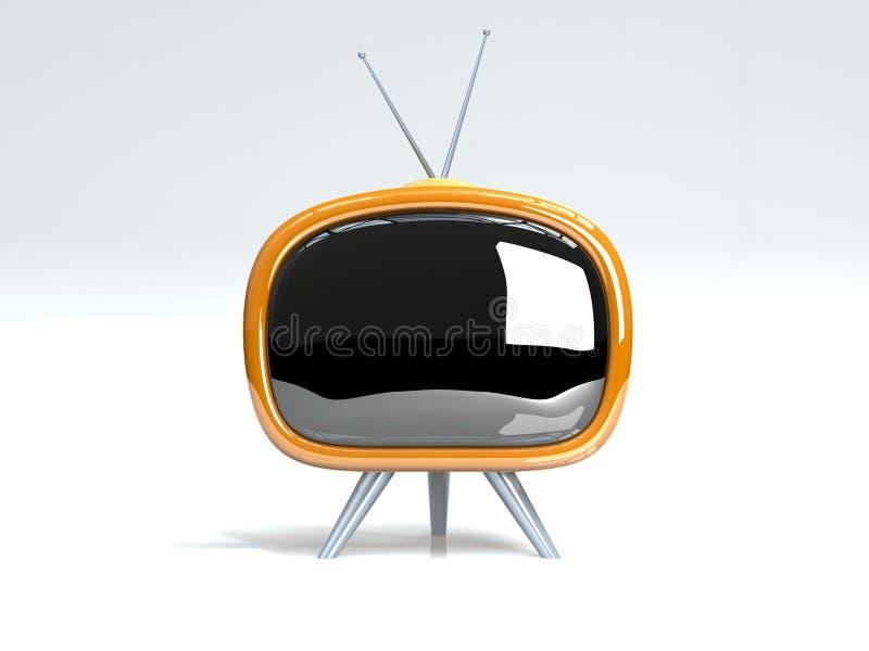 retro tv royalty ilustracja