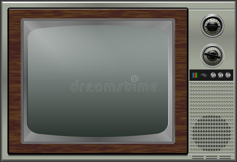 Retro TV illustrazione vettoriale
