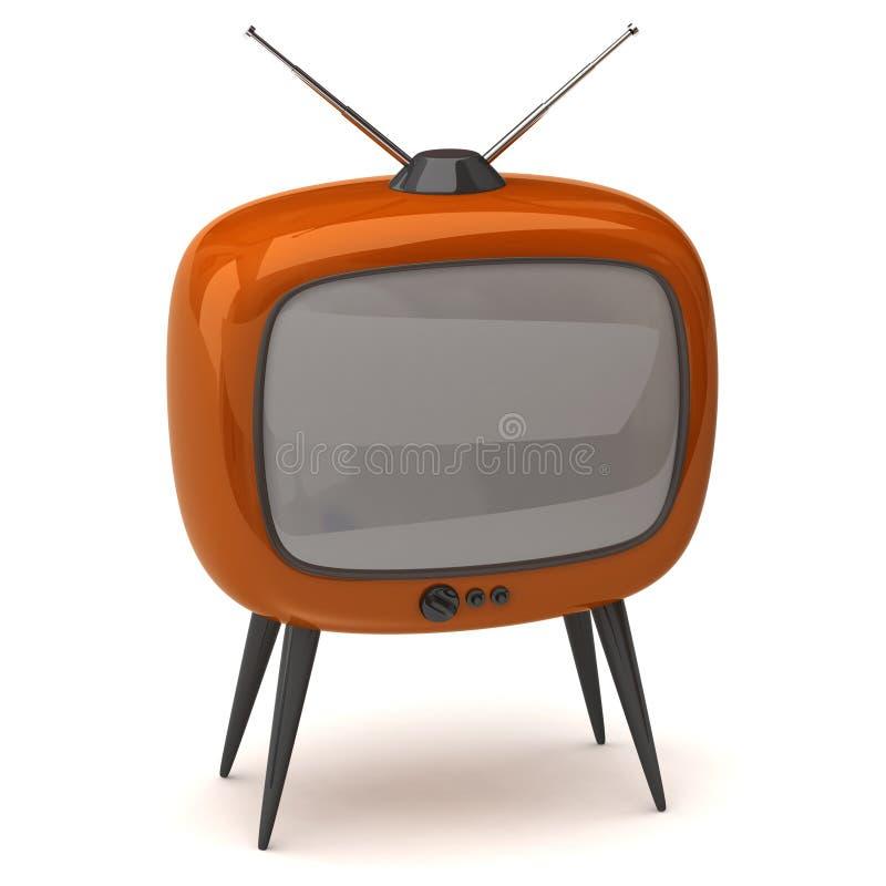 retro tv ilustracji