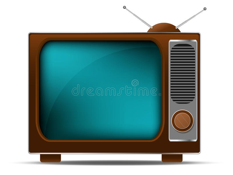 Retro TV. Isolated on a white background stock illustration