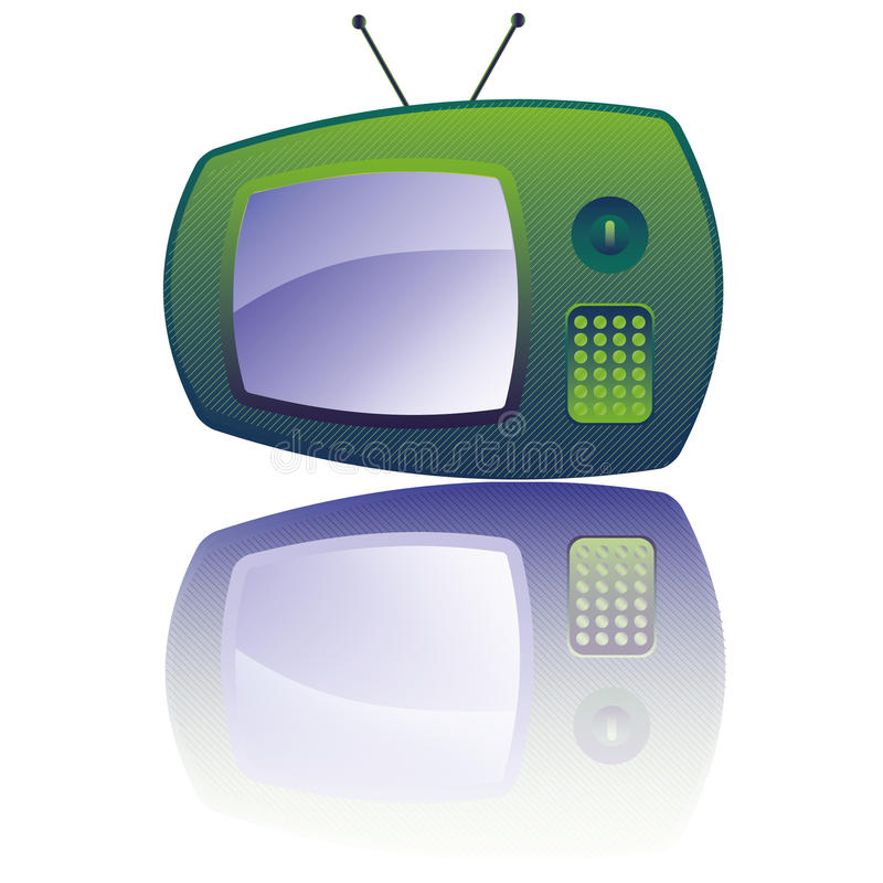Retro TV. Retro cute TV. Vector EPS10 vector illustration